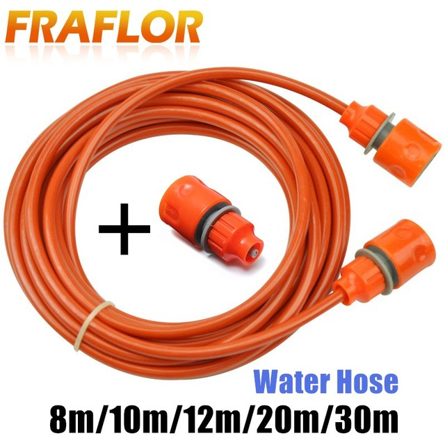 25 Feet 8m Orange PU Car Washing Garden Watering Hose Pipe With Quick Connector High Pressure Car Washer Pipeline Conduit 5*8mm