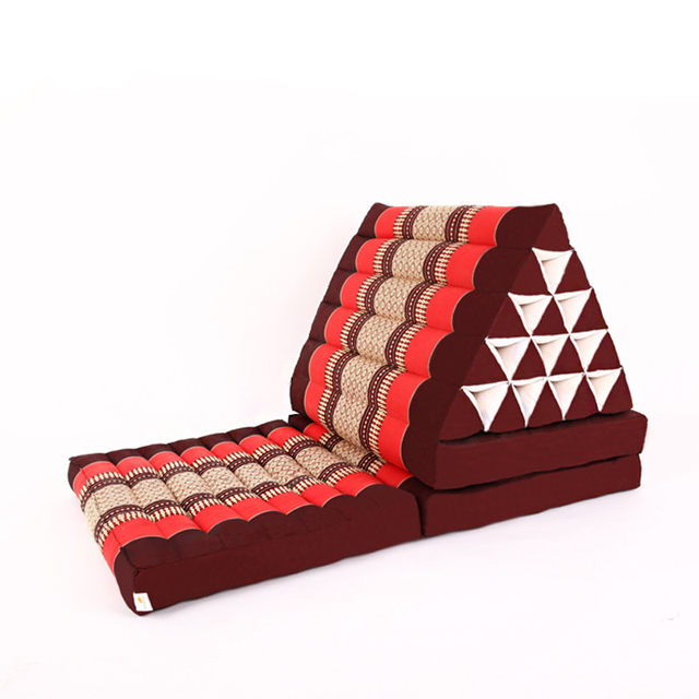 Foldout Triangle Thai Cushion 100% Kapok Filling 180x57x35cm Floor Folding  Chaise Lounger Daybed Sleeper For Living Room/Outdoor