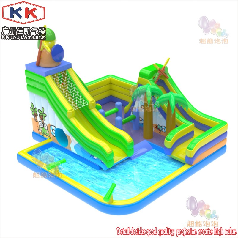 Inflatable Slides Pool For Children Inflatable Trampoline Inflatable Slide Pool Combination For Sale