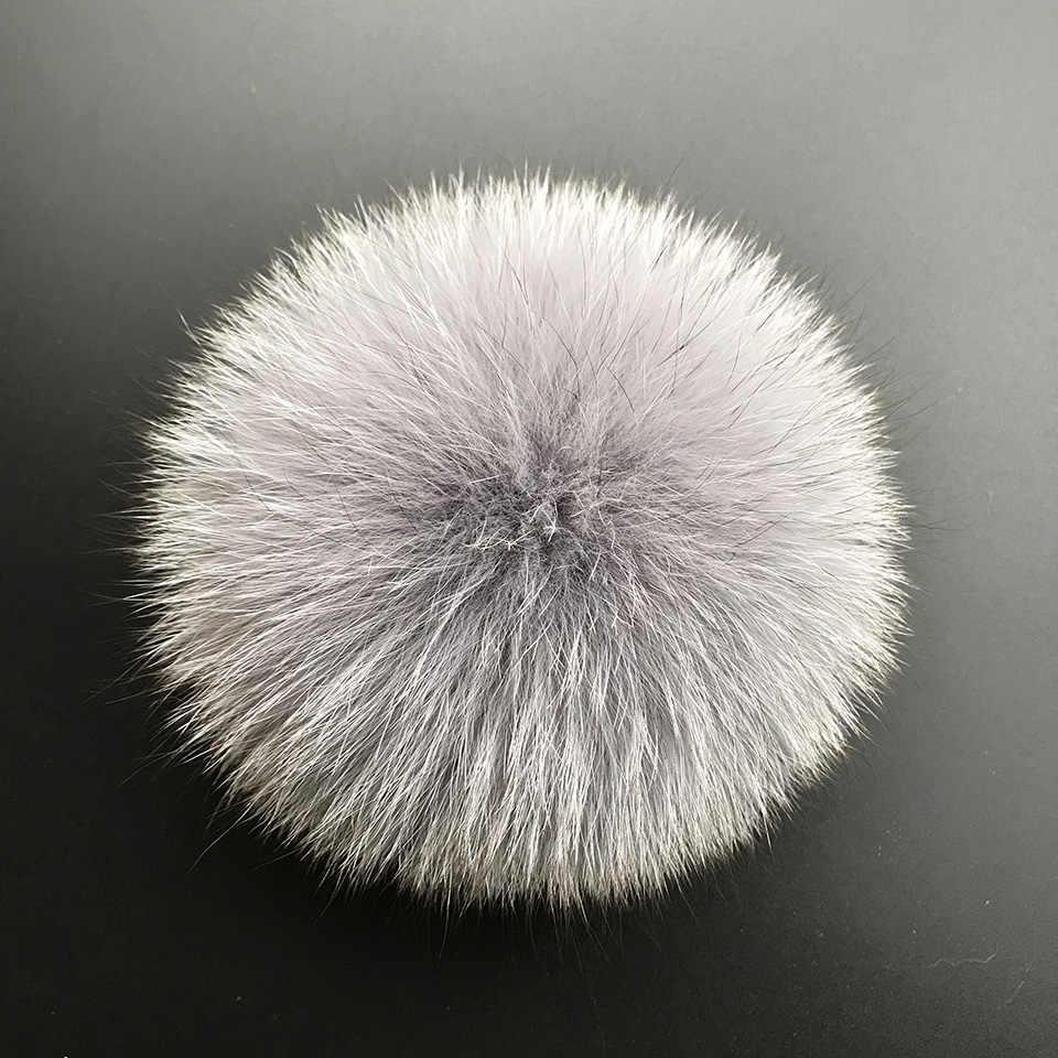 bea6661b204 ... MPPM Real Fox Fur Pompom Genuine Fur Pom Poms Ball for Hats Caps Big  Natural Fur Pompon ...