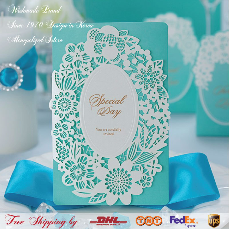 world debuts new!!!Gorgeous Design light Blue New Hollow Lace flower ...