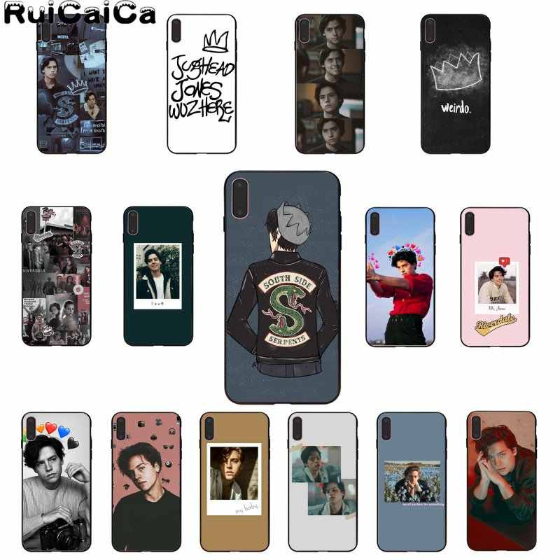RuiCaiCa American TV Riverdale Jughead Jones Black Soft Shell Phone Cover for iPhone 6S 6plus 7 7plus 8 8Plus X Xs MAX 5 5S XR