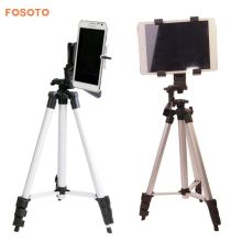 FOSOTO New Professional Camera Tripod Monopod Mount Holder Stand&Tablet Phone Holder 102cm for iPad mini 5 4 3 2 and smart phone