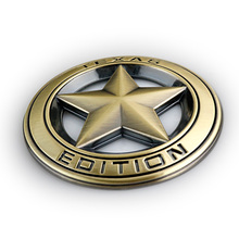 Chrome Metal TEXAS EDITION Hollow Out Star Badge Sticker Car Styling for JEEP Wrangler Liberty Grand Cherokee Vintage Bronze