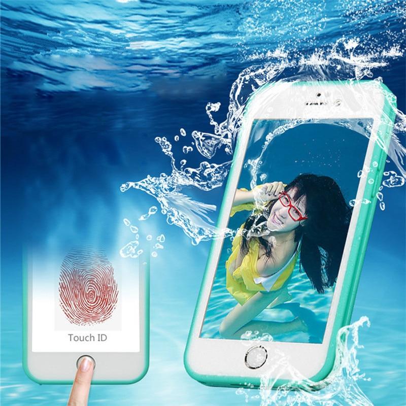 IPhone 7 üçün suya davamlı Ultra İncə Tam Qapaq Qutusu 5 5S SE X XR XS MAX Şəffaf silikon Yumşaq TPU örtüyü