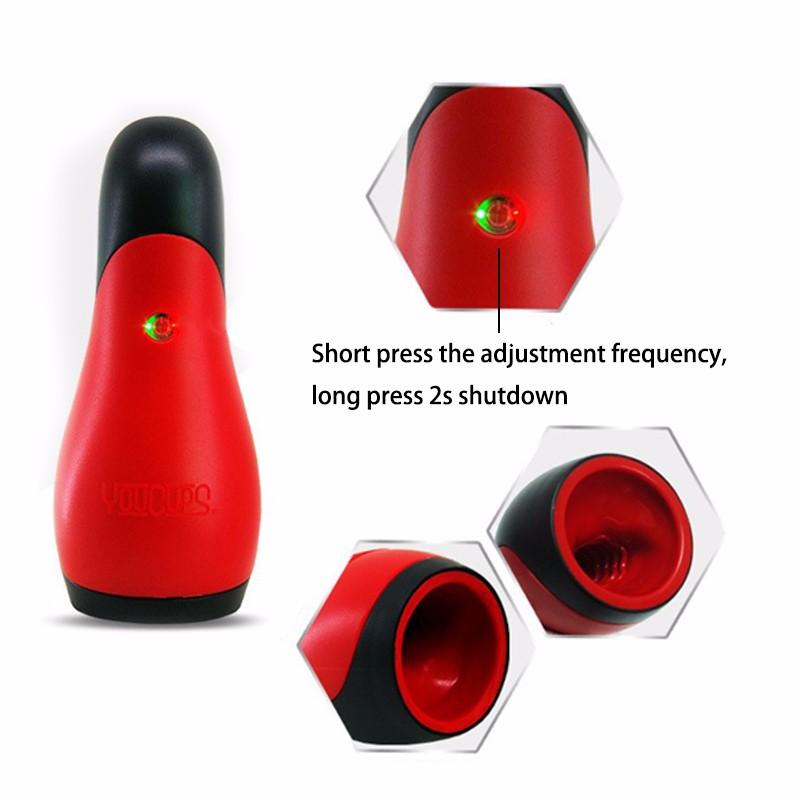USB Charging eroticism Products 12 frequency Deep throat Blow Job Vibrating Masturbator Oral Sex Toys Men 9