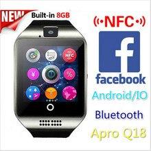 2016 neue Bluetooth Smart Uhr Wasserdicht Apro Smartwatch Unterstützung NFC Sim-karte 1,3 Mt Kamera Für Iphone Für Samsung Android telefon