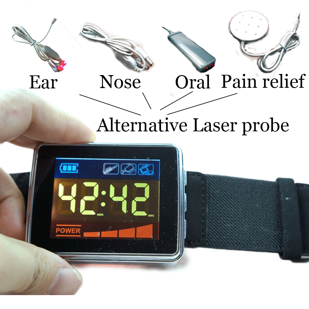 Diode laser therapy apparatus treatment of diabetes semiconductor laser therapy device watch for high blood pressure light therapy device wrist blood pressure small watch semiconductor laser therapy