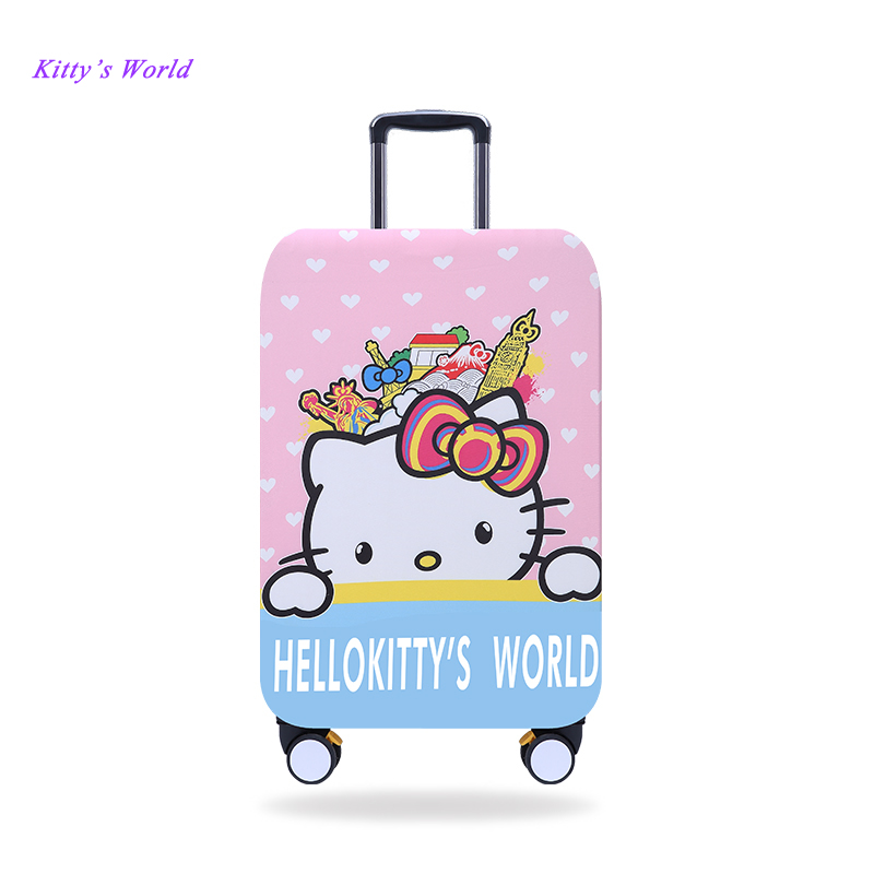 663fb2229bae Elastic Luggage Covers Travel Suitcase Dustproof Washable Anti-Scratch  Protector 20 21 22 24 26 28 29 30 32 Hello Kitty Design