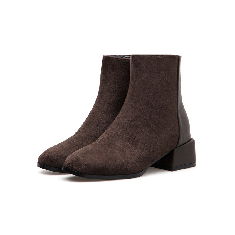 _2018 winter explosion models plus velvet wild Martin boots round head womens booties brwon 0121_2018 winter explosion models plus velvet wild Martin boots round head womens booties brwon 0121