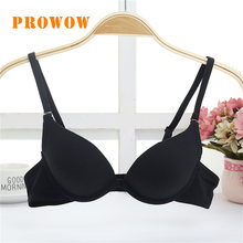 Prowow Girls'Underwear Comfortable Girls' Small Chest with Ring Bra Sexy Bras For Women Deep V Bralette Seamless Underwear(China)