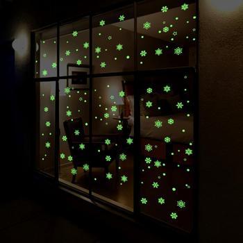 Navidad Nowflake luminosa removible ventana pared calcomanías artísticas tienda de decoración de Casa maravilloso 11,2