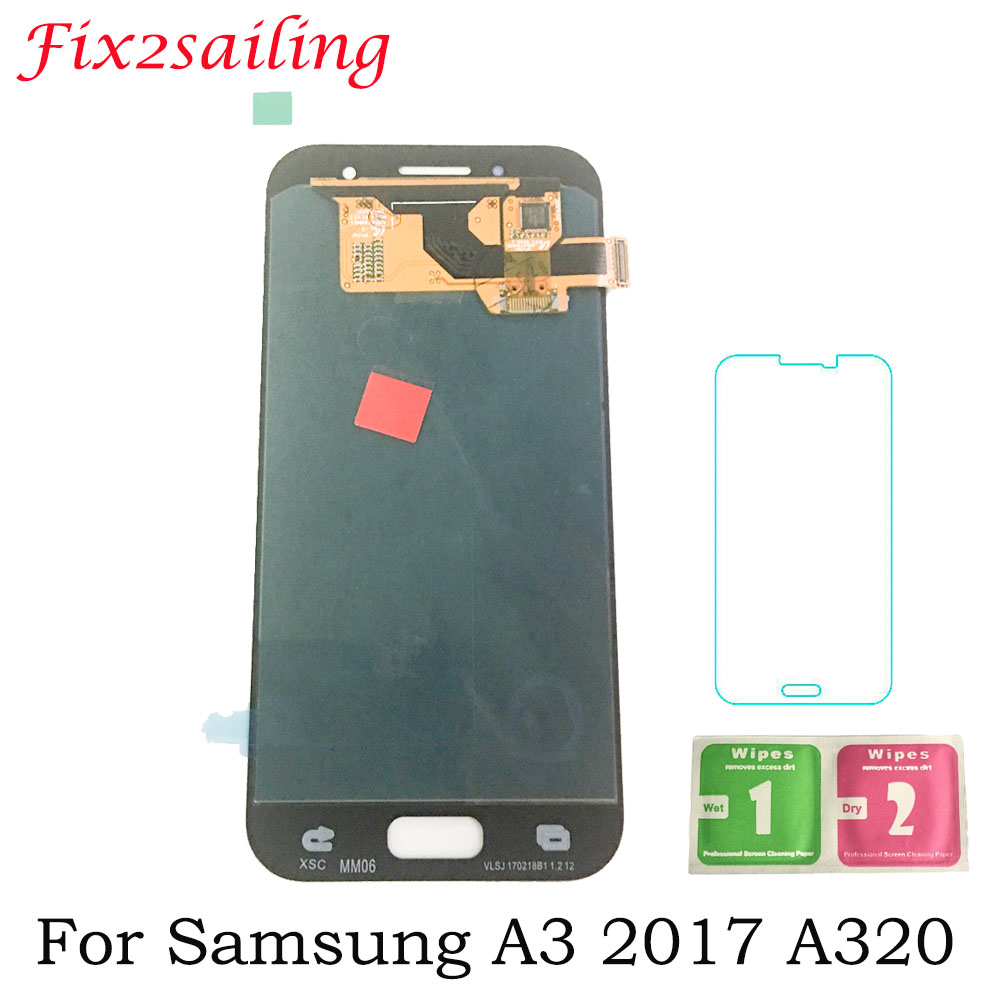 AMOLED LCD Screen for SAMSUNG Galaxy A3 LCD 2017 A320 A320M A320Y SM-A320F A320FD LCD Display + Touch Screen Replacement DisplayAMOLED LCD Screen for SAMSUNG Galaxy A3 LCD 2017 A320 A320M A320Y SM-A320F A320FD LCD Display + Touch Screen Replacement Display