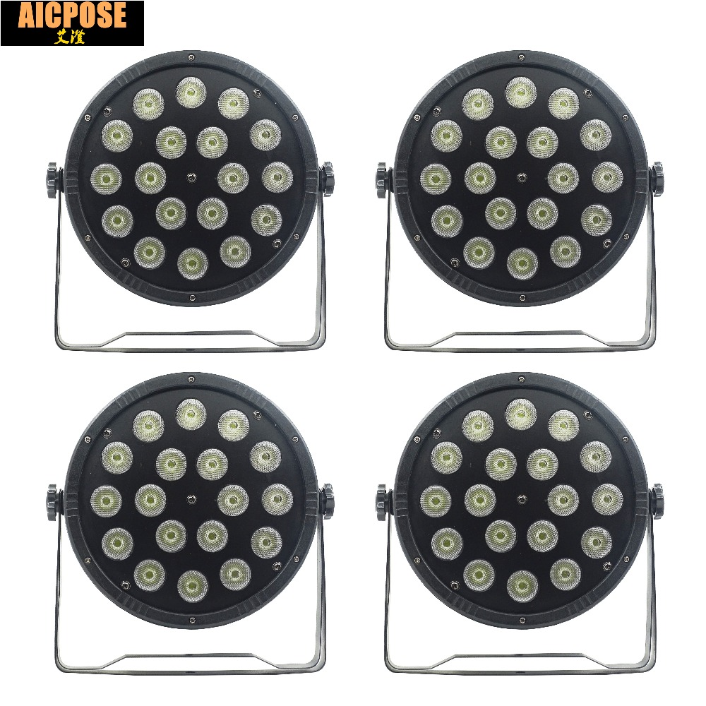 4units 18*12w Led Light 18x12W Led Par Lights RGBW 4in1 Flat Par Led Dmx512 Disco Lights Professional Stage Dj Equipment