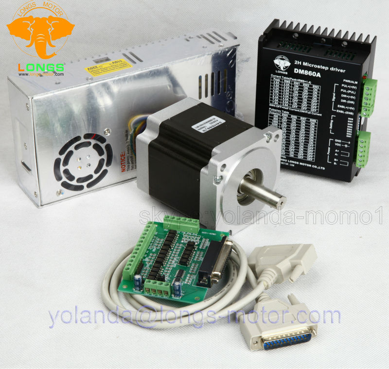Stepper Motor Nema 34 878oz in 34HST9805 37B2 Driver DM860A peak 7 8A CNC Router Plasma aliexpress com buy stepper motor nema 34 878oz in 34hst9805 37b2 dm860a wiring diagram at fashall.co