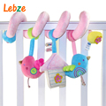 Baby Crib Musical Toy Cot Stroller Hanging Rattle Infant Educational Toy Soft Plush Birds Doll Cute Newborn Gift