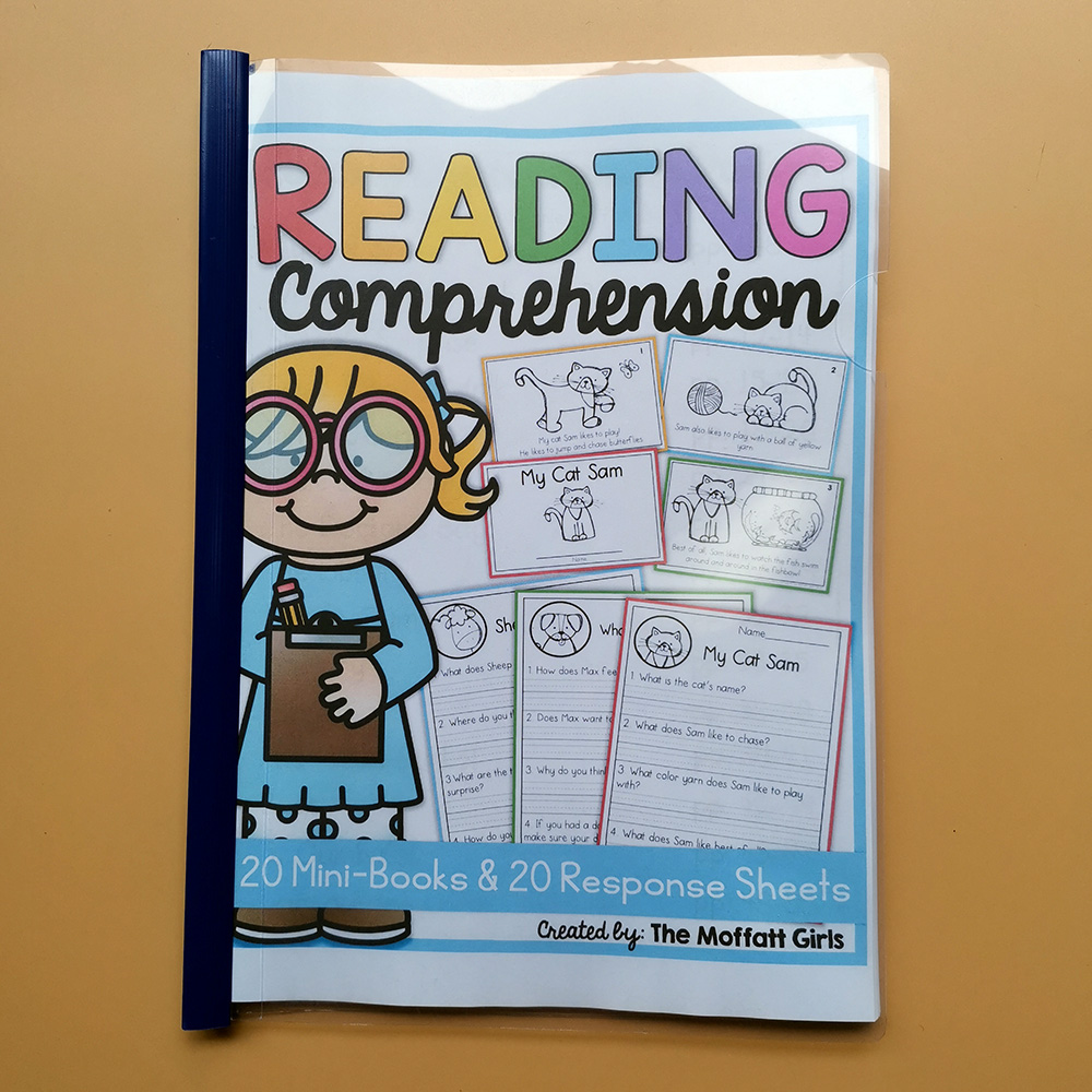 - 63PCS/Set Reading Comprehension Packet Learn English Word Exercise