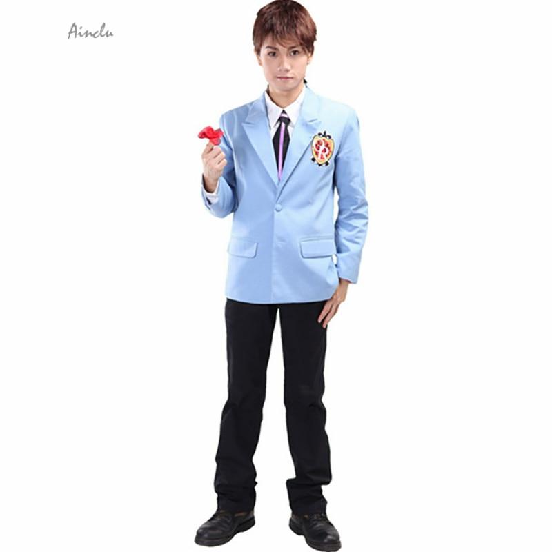Ainclu Japanese anime Ouran High Hot School Host Club Tamaki Suou cosplay costumes Halloween Costume School uniforms suits