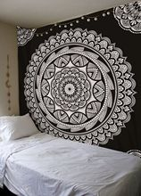 Polyester Wall Hanging Tapestry with Indian Mandala