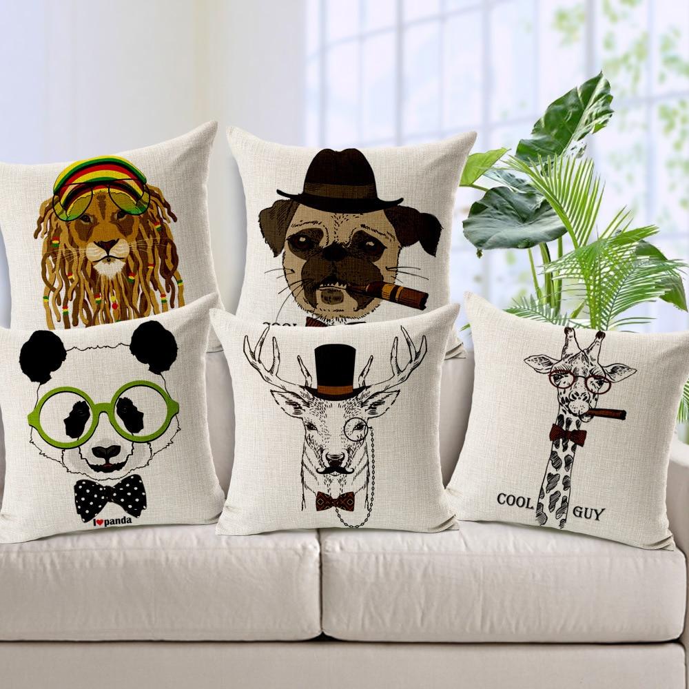 online get cheap decorative pillow pattern aliexpresscom  - cushion cover pillows cases cartoon giraffe pattern printed decorativepillow covers car throw pillow home decor