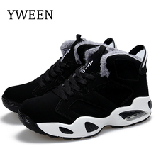 YWEEN Mens Boots Round Toe Plush Warm Unisex Style Fashion Ankle Boots Autumn Winter Lace-Up Men's Casual Boot Shoes Size 37-45 цена 2017