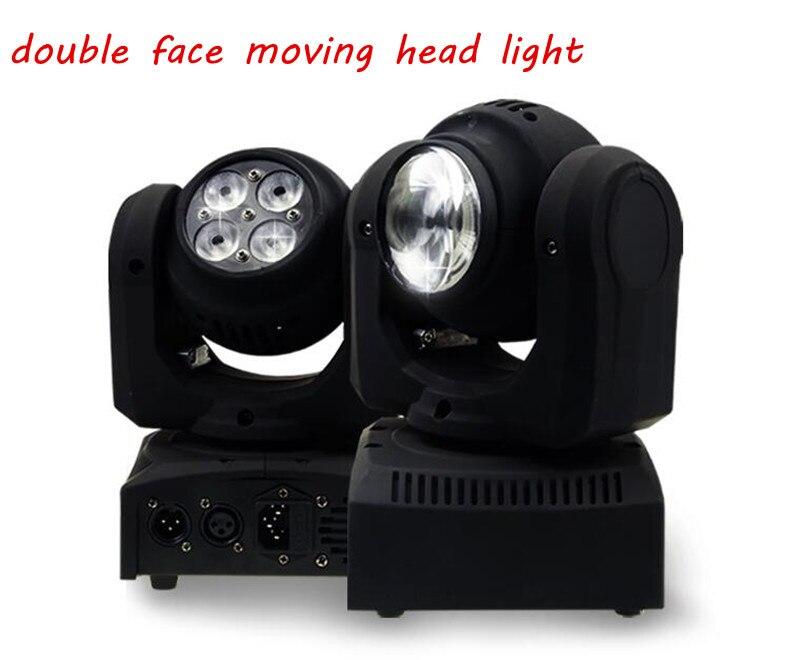 4pcs LED Double Face moving head lights Spot dyed lights DJ&DMX sound control beam lights  full-color  KTV stage lights brighter than phlatlight 60w led chip module cst90 ssd90 60w led moving head lights source 6500k 3000 lumen
