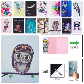 Fashion Cartoon Case Cover For Apple iPad 6th Gen 9.7 2017 2018 Funda Cases For iPad Air 1 2 iPad Pro 9.7 PU Leather Stand Shell new painted pu leather flip cartoon case for apple ipad mini 4 cases women stand wallet cover funda for mini4 with card slot