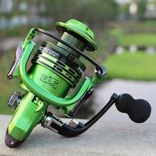 All-metal Arm 13+1BB Spinning Fishing Reel EVA Handle Right Left Handed Saltwater Freshwater Gapless Metal Head Spinning Wheel
