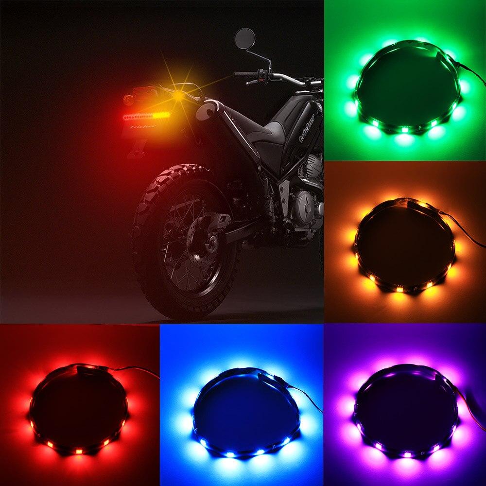 "2 × Pink 30cm 12/"" Flexible 12 SMD 5050 LED Strip Light Waterproof Car Motorcycle"