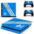 Новый Adidas PS4 Наклейки Кожи Винила Наклейка Для Sony Playtation 4 консоли и 2 Контроллера Кожи