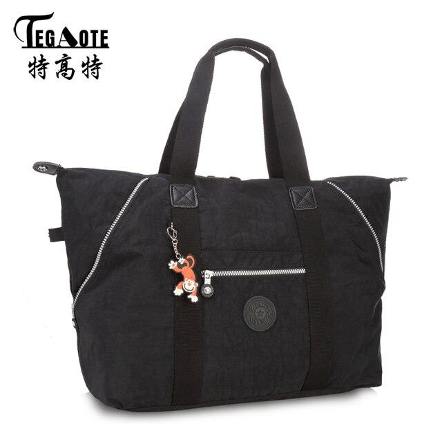 Tegaote Women Nylon Waterproof Shoulder Bag Luxury Handbags Beach Bags Designer Multifunction Zipper Travel Bolsos