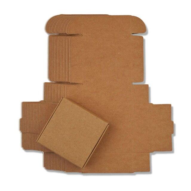 30 pcs Pequeno Kraft Caixa de Papel Kraft Caixa de doces, Caixa pequena caixa de papel de embalagem de papelão marrom, artesanato de Presente caixa de Embalagem de Sabonete Artesanal