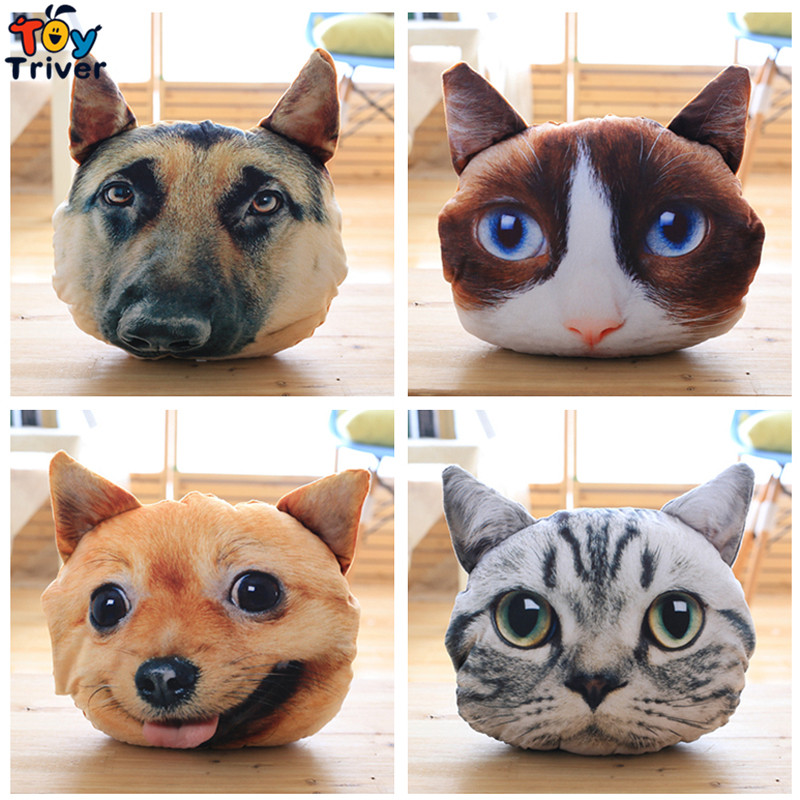Plush Simulation 3D Dog Cat Portable Blanket Stuffed Toy Baby Shower Car Air Condition Travel Rug Office Nap Carpet Gift Triver