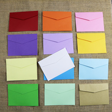 Small Paper Envelopes 10pcs 13 Candy Colors Postcard Wedding Gift Invitation Envelope Office Stationery Paper Bag 11.5x8cm