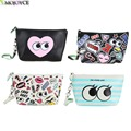 Hot Selling! Korean Waterproof PU Cosmetic Bags Cattoon Women Makeup Bag Ladies Make Up Box Toiletry Bag Portable Pouch