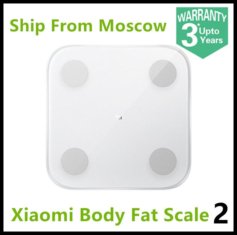 2019 Xiao mi Composition corporelle échelle 2 13 Repots d'analyse mi graisse corporelle échelle 2 mi fit APP contrôle avec affichage de LED caché XMTZC05HM