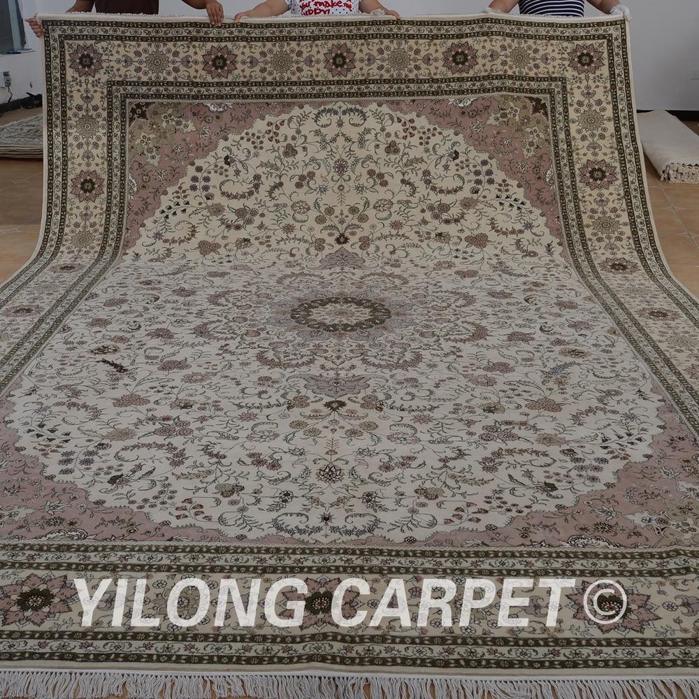 Yilong 10u0027x14u0027 Persian Wool Rug For Sale Handmade Exquisite Modern Wool And  Silk