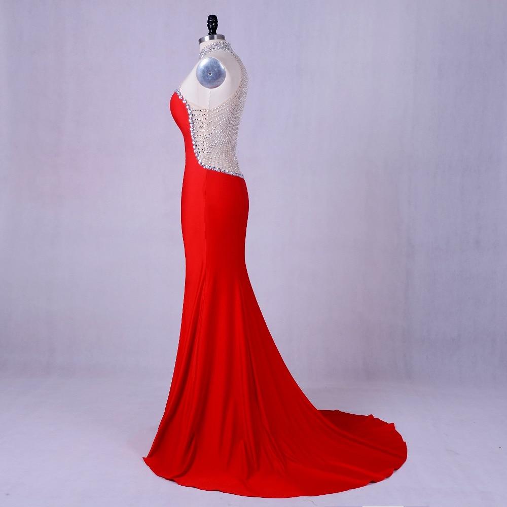 Abendkleider für frauen Luxus Meerjungfrau Kleid Red Friesen Lange ...