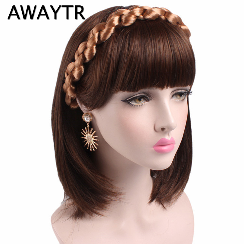 AWAYTR 2018 New Bold Wig Braid Headband For Women Bohemia Ladies Fashion Hair Accessories Female Headwear 4 Colors ...