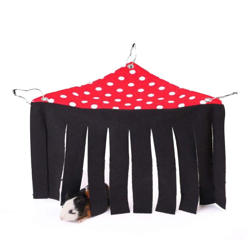 Small Pet's Tent Hideout Hideaway Hammock Hanging Bed Tassel Corner Nest Create Safty Rest For Hedgehog Guinea Pig Hamster