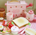 Free Shipping! Baby Toys Wood Play Pretend Game Toys Toast Bread Toaster Wooden Kitchen Toys Set Gift