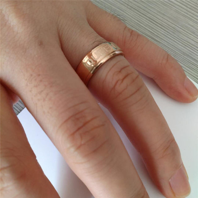 line Shop 6 8mm Rose Gold Wedding Ring for Women Queen King