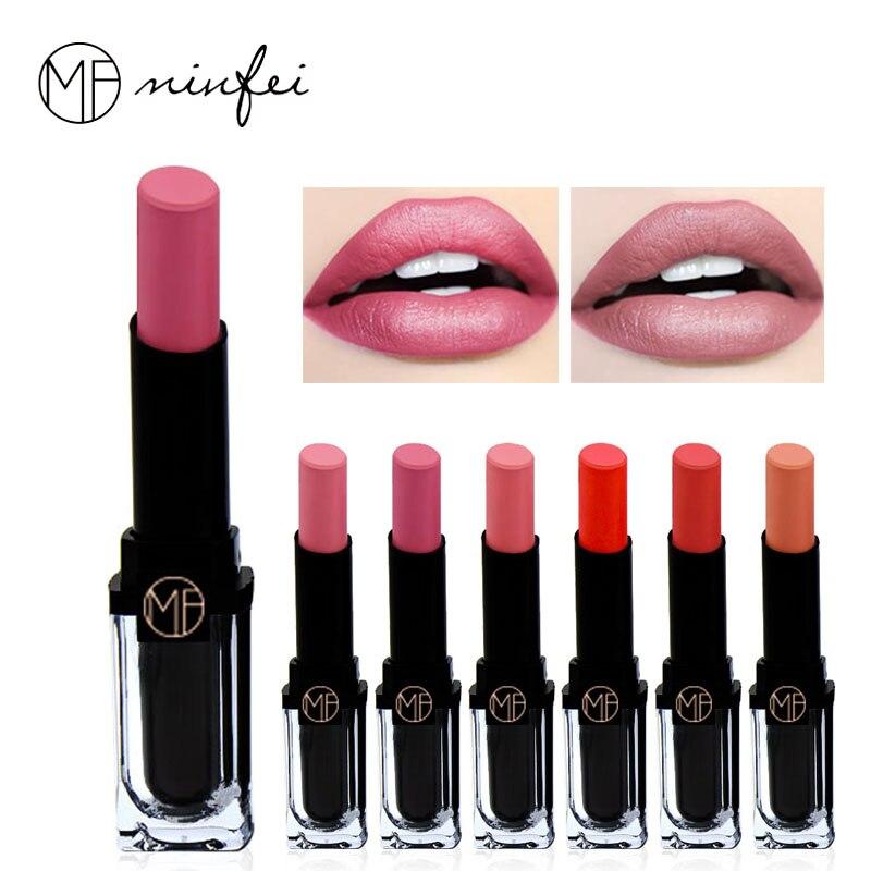 New Sexy Nude Color Pigments Moisturizer Lipstick Long Lasting Waterproof Makeup Velvet Brand Matte Lip Stick Beauty Batom