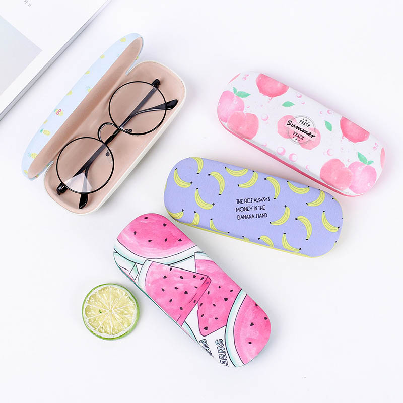 Portable Sunglasses Case Candy Color Letter Fruit Pattern Goggles Glasses Box NGD88