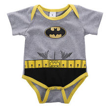 Newborn Baby Boys Girls Batman Belt Romper Jumpsuit Clothes Outfits