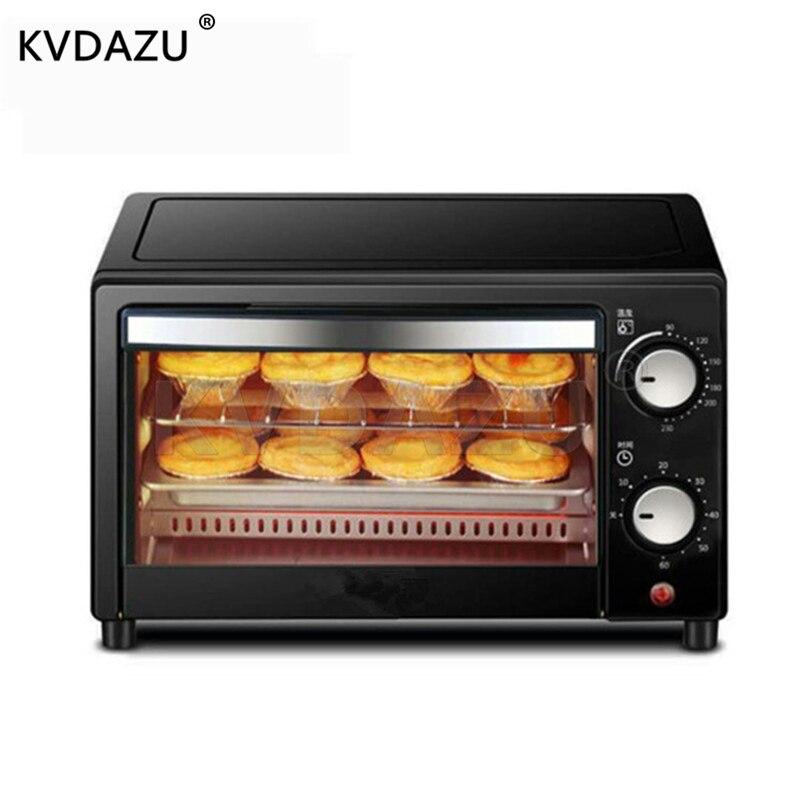2 couches 12L Mini four de cuisson électrique maison four à Pizza outils de cuisson pour gâteaux poulet aile contrôle de température Timing 220 V