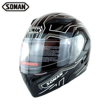 High Quality SOMAN 955 Double Visors Motorcycle Flip-Up Helmets Motorbike Capacete Racing Helmet Moto Cycling Casco