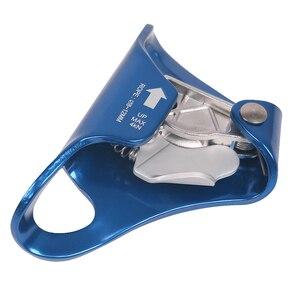 Image 2 - Ascender de peito ao ar livre 4kn, montanhismo, cavidade, escalada, corda para 8mm 12mm, escalada, engrenagem de resgate, azul