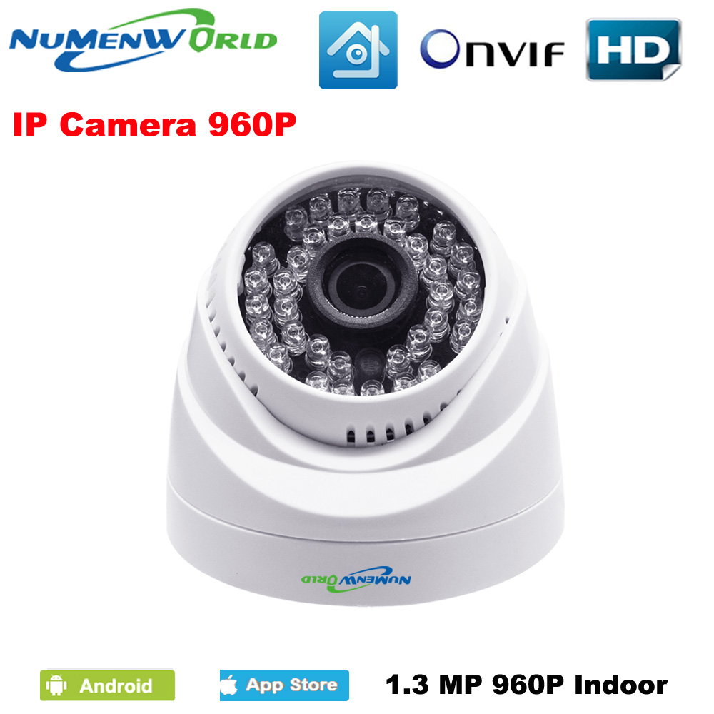 1.3MP 960P IP camera with IR-CUT filter P2P ONVIF 36pcs IR LEDs Network IP Security webcam support Android iOS indoor home use smar home security 1000tvl surveillance camera 36 ir infrared leds with 3 6mm wide lens built in ir cut filter