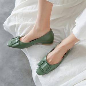 Image 5 - Fedonas 2020 봄 여름 품질 정품 가죽 여성 펌프 하이힐에 얕은 슬립 파티 웨딩 사무실 신발 여자